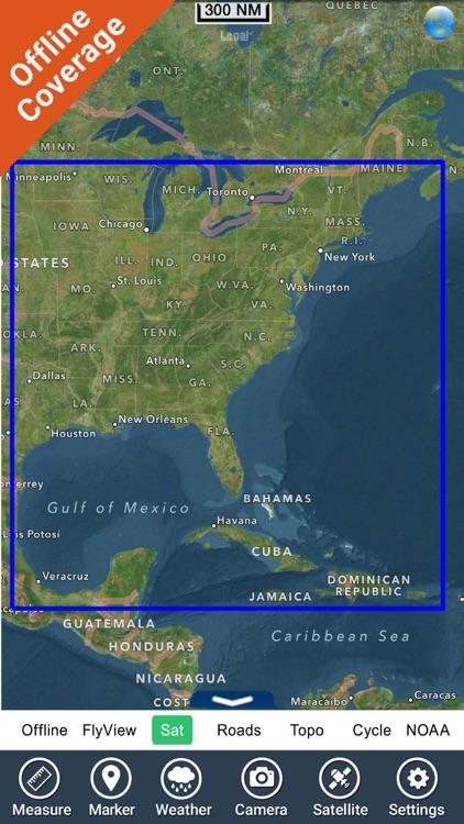 US East Charts Texas to Maine screenshot-4