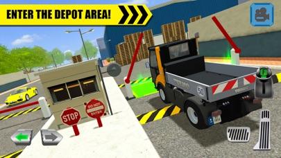 Truck Driver: Depot Parking screenshot one