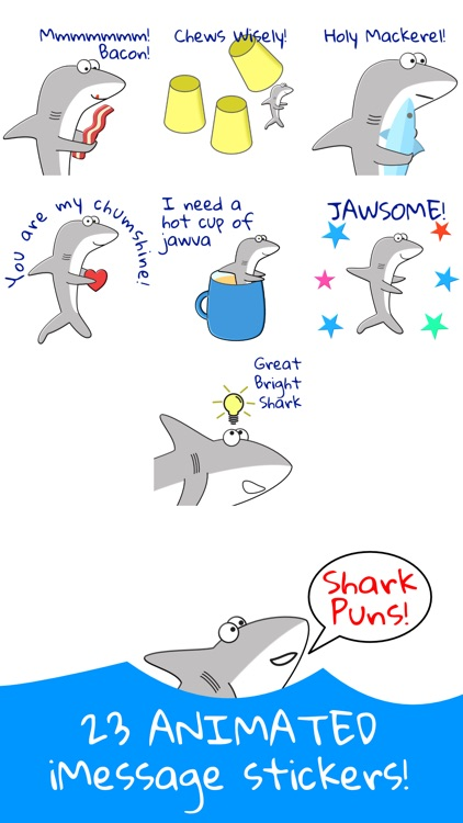 Shark Puns Animated Stickers