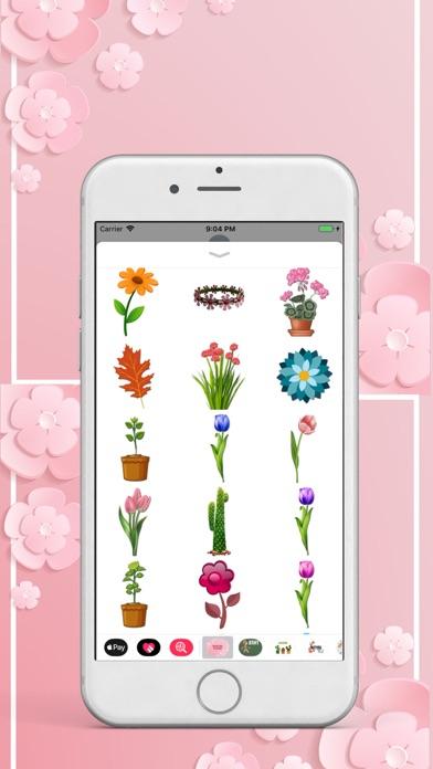 Beautiful Flower Pack Stickers screenshot three