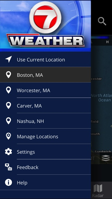 Screenshot for WHDH - 7 Weather Boston in United States App Store