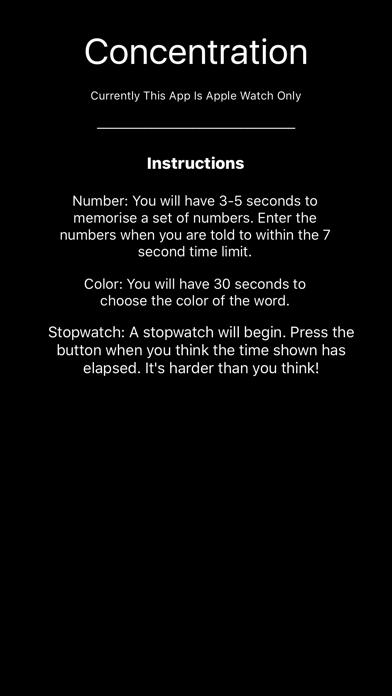 Concentration - Brain Training screenshot one
