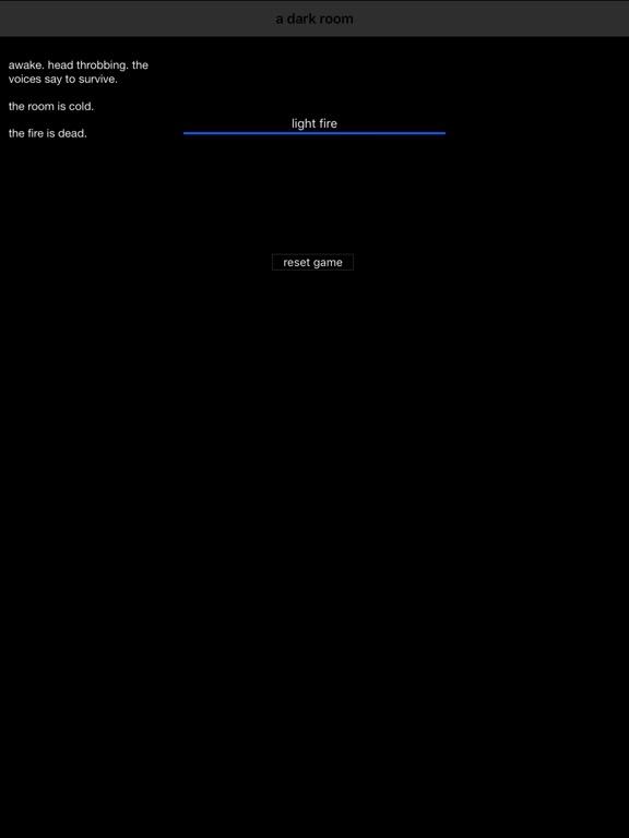 Screenshot #1 for A Dark Room