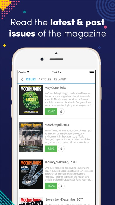 Screenshot for Mother Jones in United States App Store