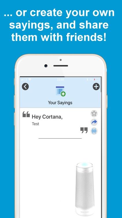 Ask for Microsoft Cortana App