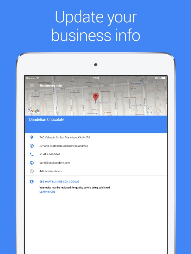 Google My Business On The App Store
