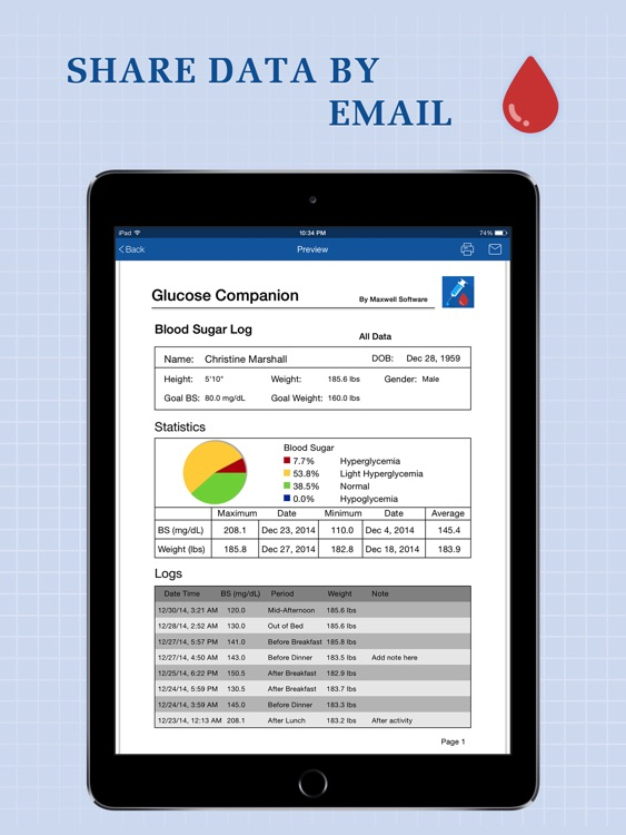 Glucose Companion Pro for iPad screenshot-4
