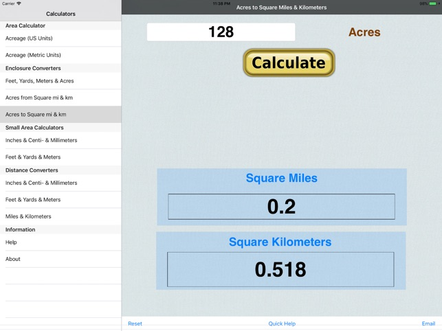 Acre Area Acreage On The App Store