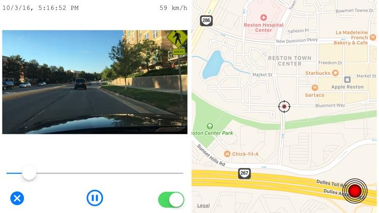 CamCarDer - GPS/G-force car dash camera recorder screenshot-3