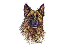 German Shepherd Dog Stickers