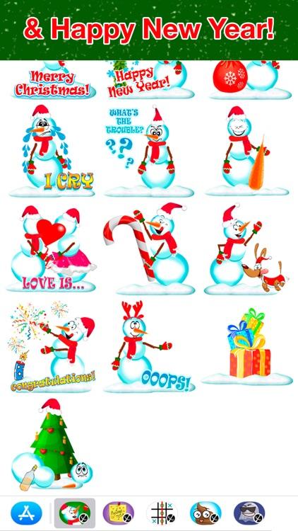 Snowman - Winter cute stickers screenshot-3