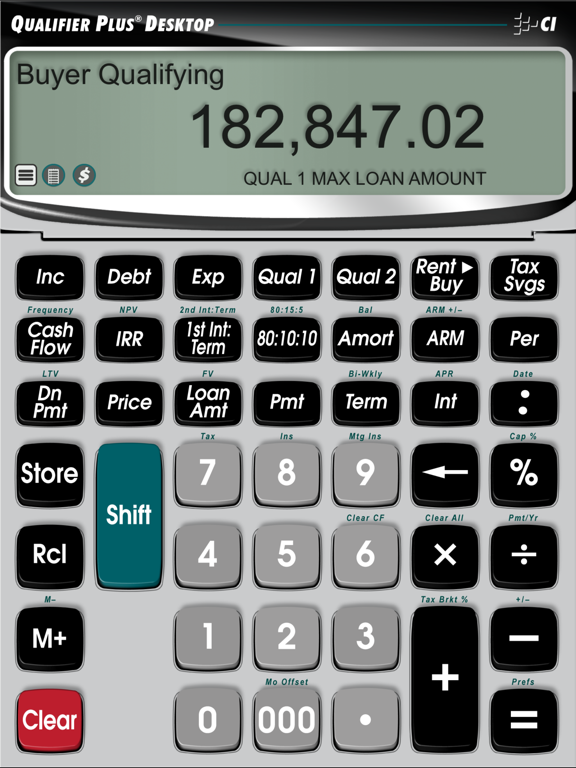 Qualifier Plus IIIx -- Advanced Residential and Commercial Investment Real Estate Finance Calculator screenshot