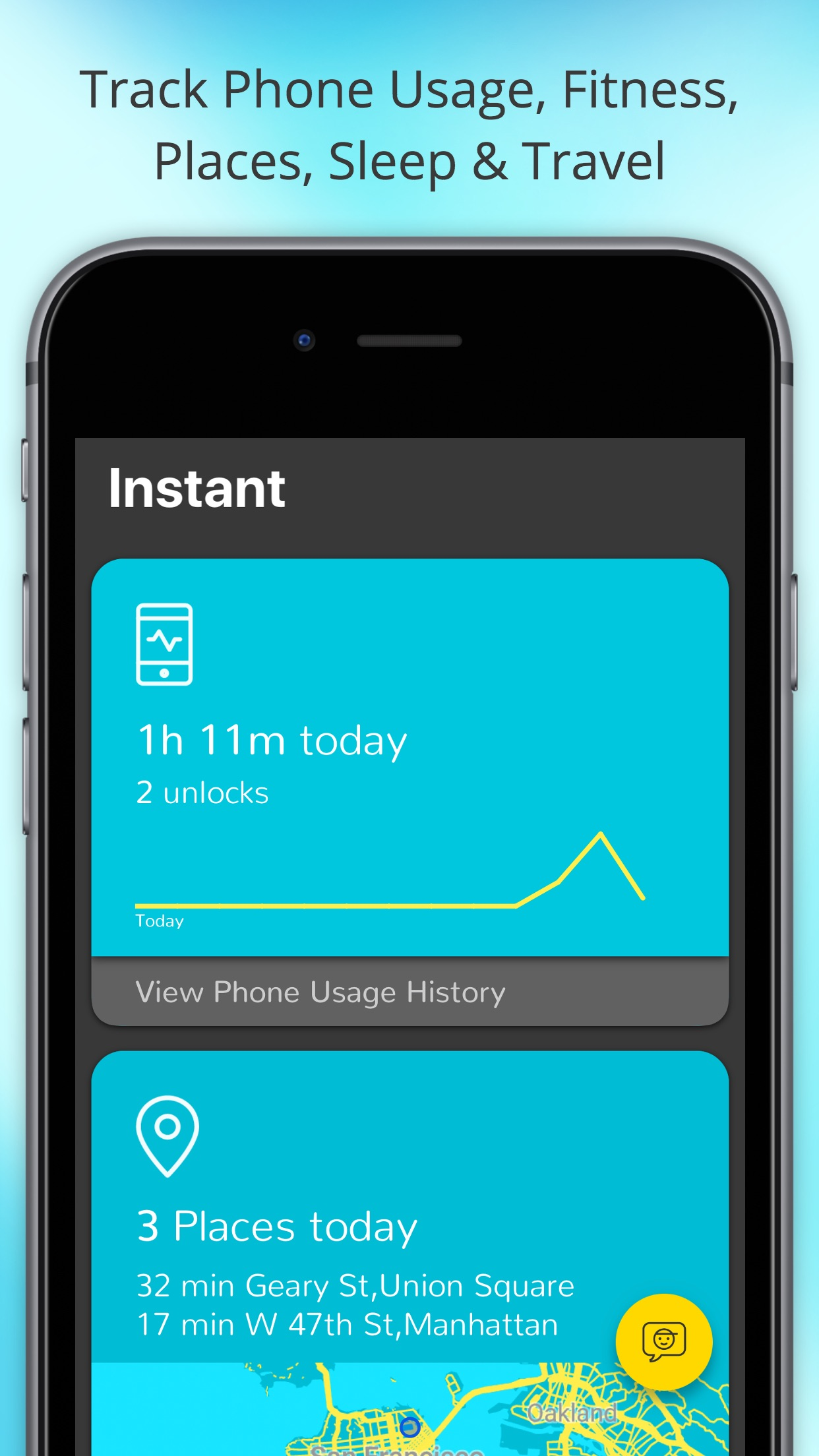Screenshot do app Instant - Lifelog Screen Time