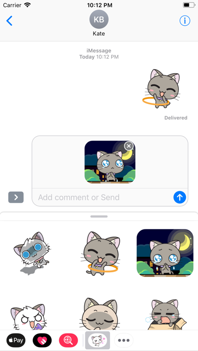 Little Cats Animated Stickers screenshot one