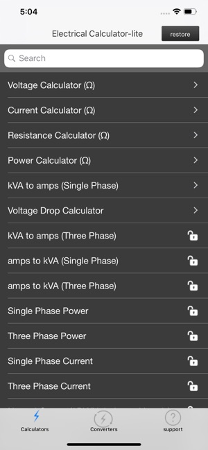 Electrical Calculator lite on the App Store