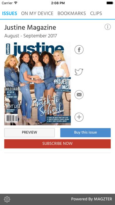 Justine (Magazine) screenshot 1