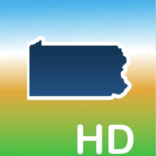 Aqua Map Pennsylvania Lakes HD