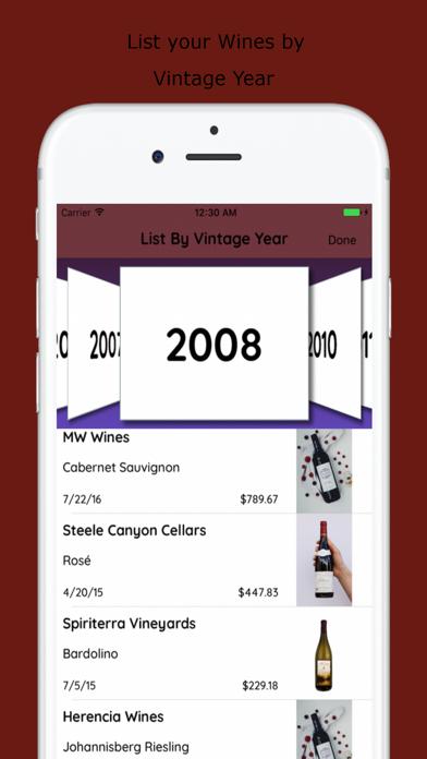 Wines List screenshot three