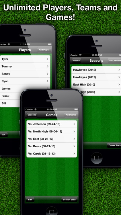 Football Stats Tracker Touch