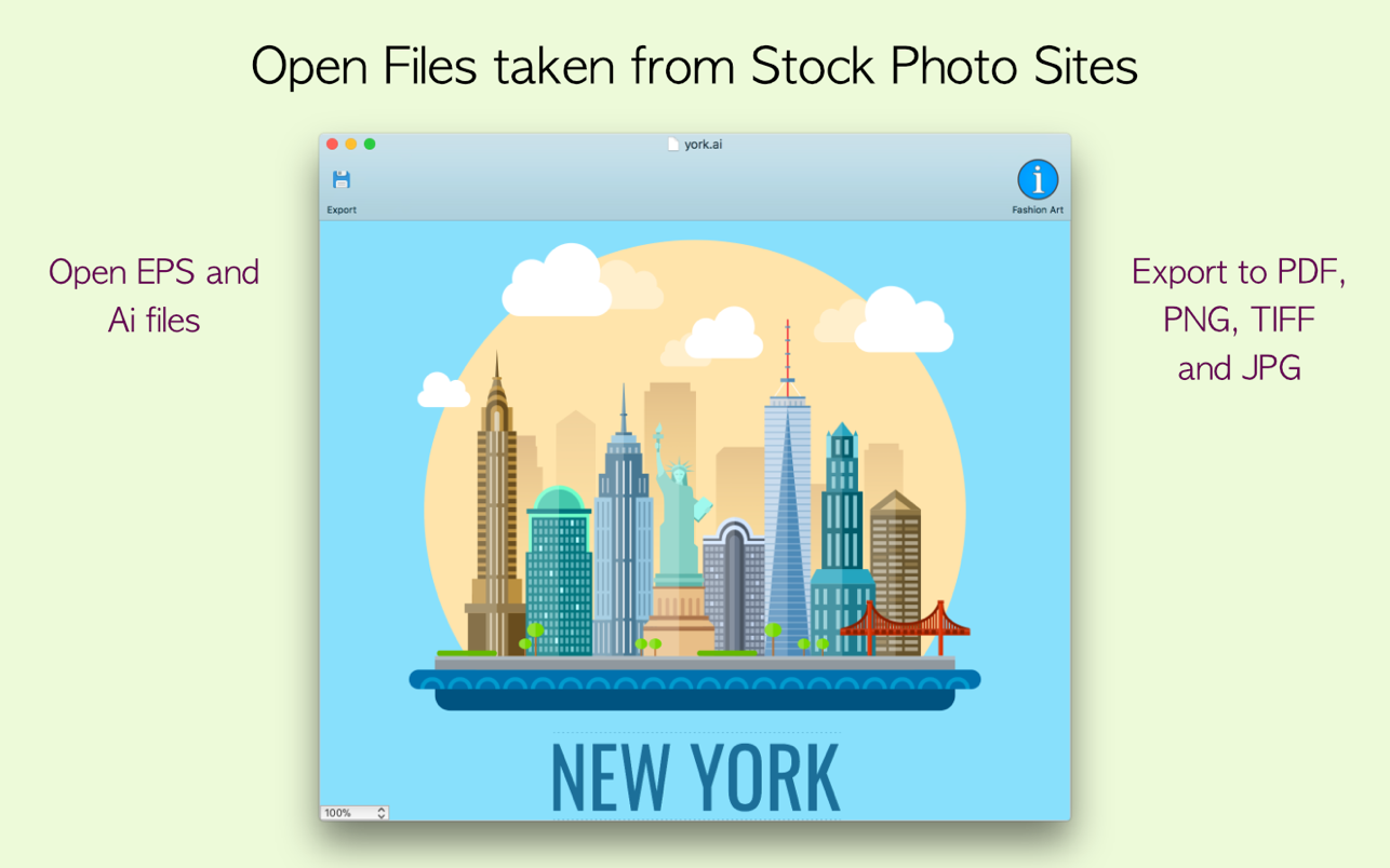 EPSViewer Pro 1.4 Mac 破解版 AI和EPS格式文件预览工具