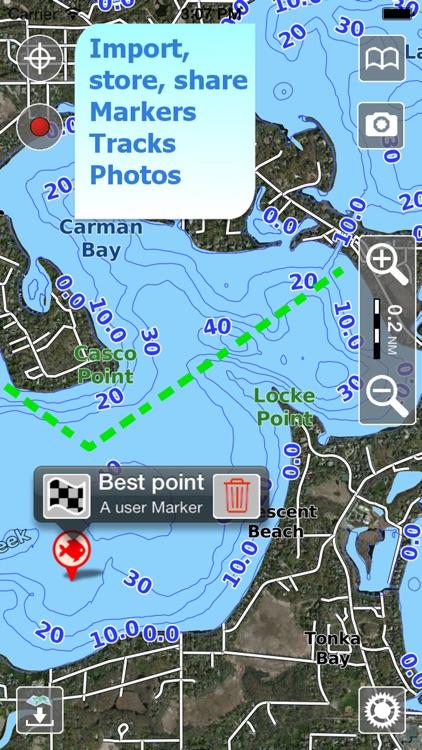 Aqua Map Indiana Lakes GPS HD screenshot-3
