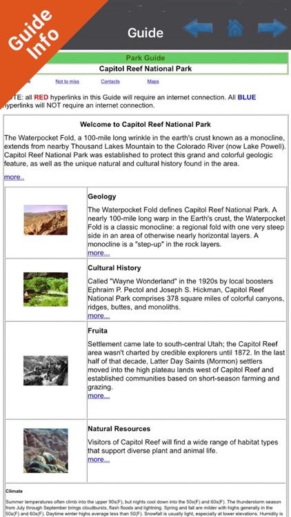 Capitol Reef National Park - GPS Map Navigator screenshot-3