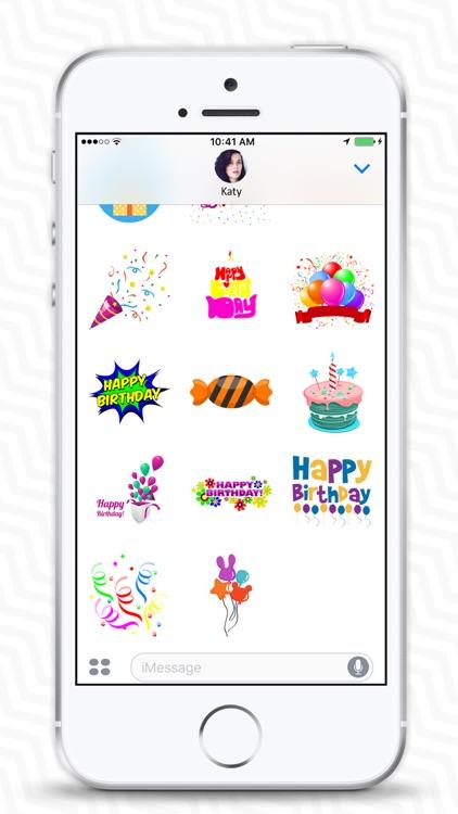 Birthday Stickers & Birthday Wishes - iMessage screenshot-3