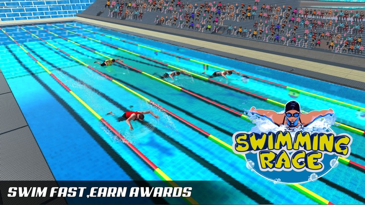Water Swimming Diving Race screenshot-3