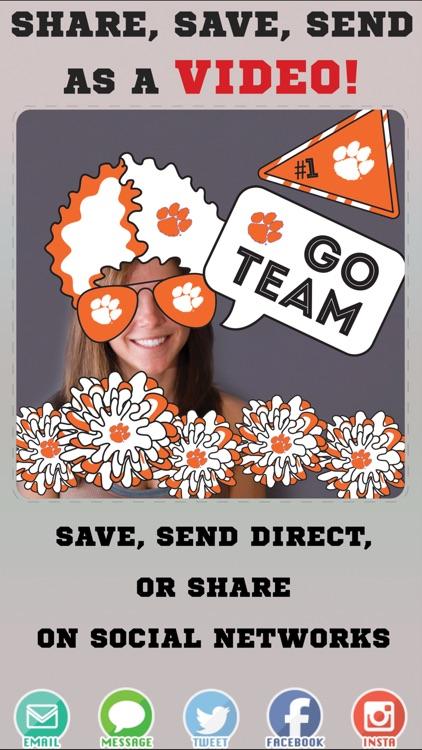 Clemson Tigers Animated Selfie Stickers screenshot-3