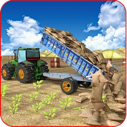 New Tractor Cargo Transport 3D