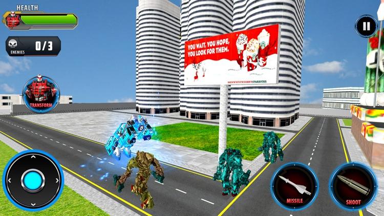 Police Car Robot Transform screenshot-3