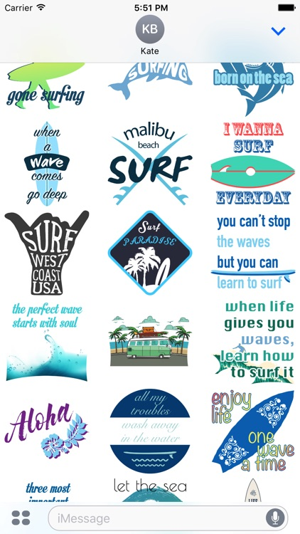Surf Stickers Pack 3