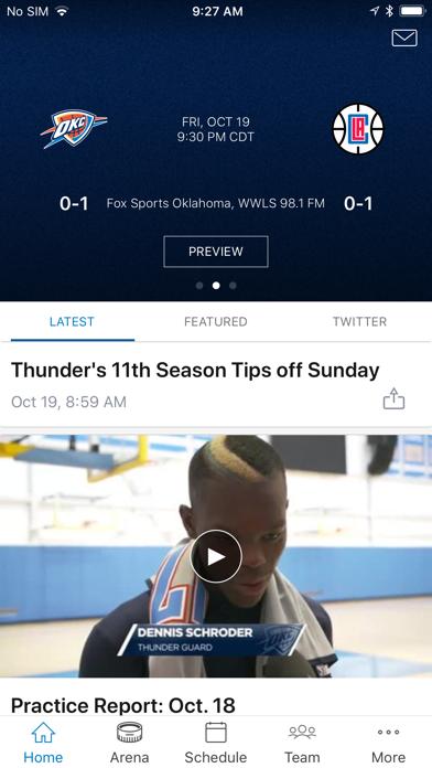 Oklahoma City Thunder screenshot one