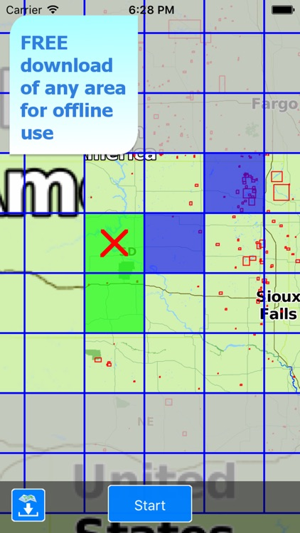 Aqua Map South Dakota SD Lakes screenshot-4