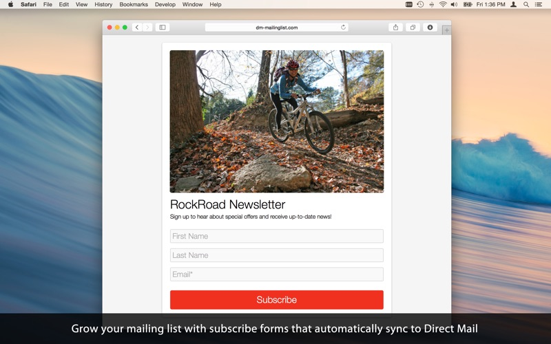 Direct Mail Screenshot