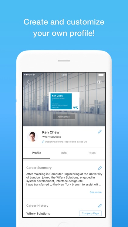 Eight - Manage Business Cards screenshot-3