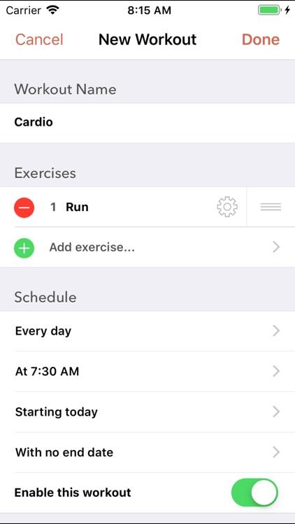 Workout Plan: Fitness Schedule screenshot-3