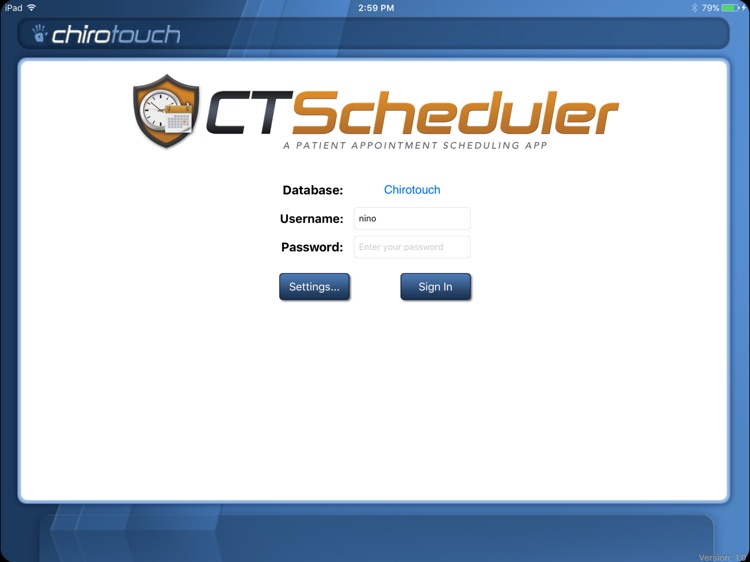 CT Scheduler Mobile 7.0