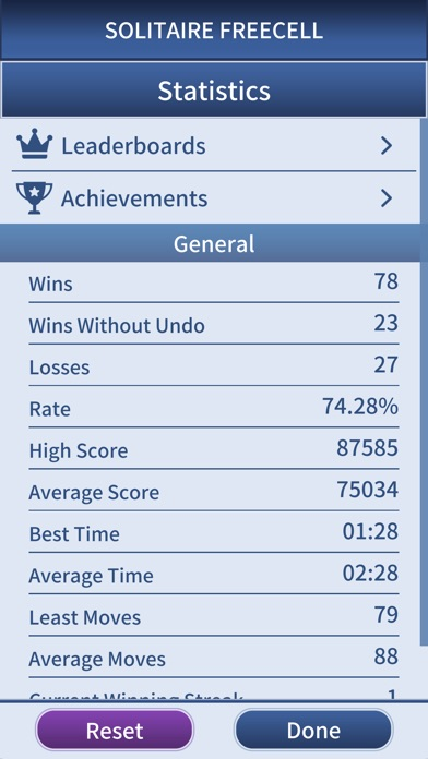 Freecell Solitaire Pro. Screenshots