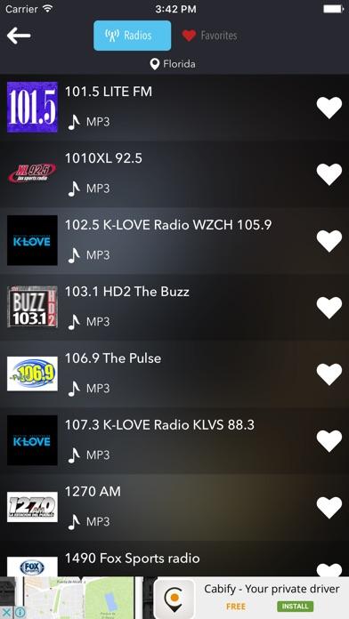 Radio USA United States Radios Screenshot on iOS