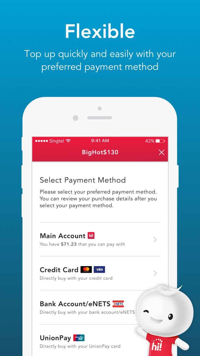 Singtel Prepaid hi!App Screenshot