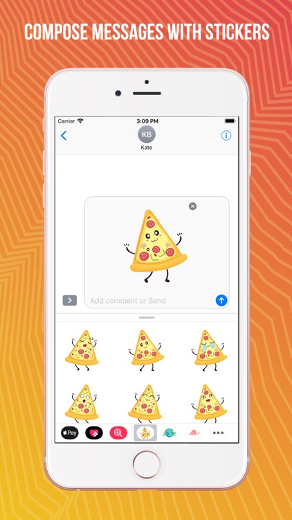 Pizza Slice Emoji Sticker Pack