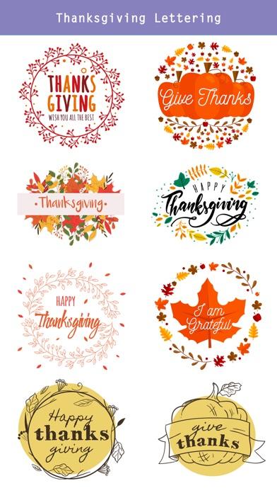 Happy Thanksgiving Day Sticker screenshot 3