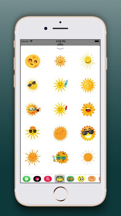 Sun Emoji Stickers Pro screenshot three