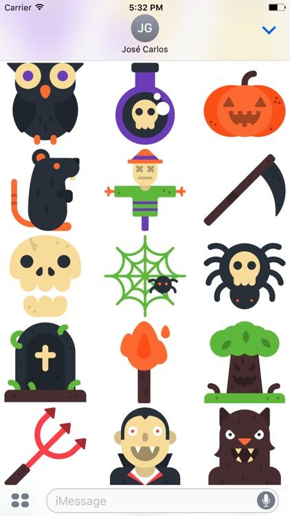 Halloween Flat Sticker Pack for iMessage