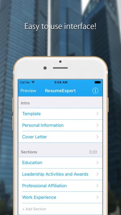 Resume Builder: CV Template screenshot-3