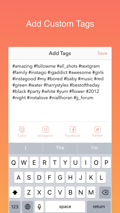 Hot Hashtags for Instagram, Facebook & Twitter screenshot-3
