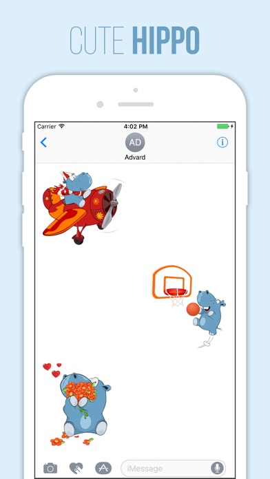 download Cute Hippo Stickers apps 3