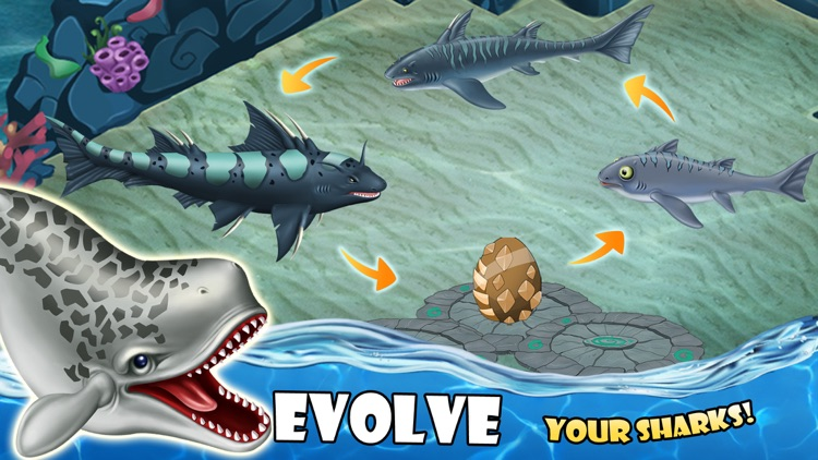 SHARK WORLD -water battle game screenshot-4