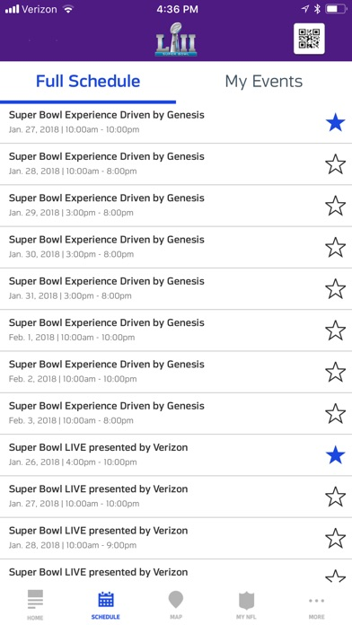 Super Bowl LII Fan Mobile Pass screenshot 2